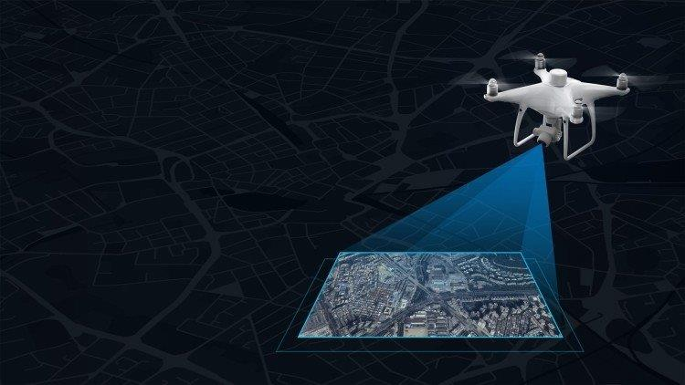 Serviços de topografia com drone